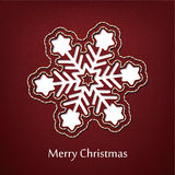 Vector christmas postcard design with denim jeans background Royalty Free Stock Photo