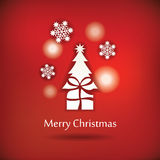 Vector christmas postcard design Royalty Free Stock Photos