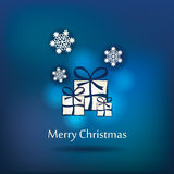 Vector christmas postcard design Stock Images