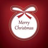 Vector christmas postcard design Stock Image