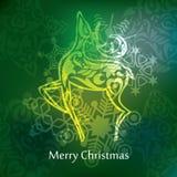 Vector christmas postcard design Royalty Free Stock Photography