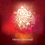 Vector christmas postcard design Stock Image