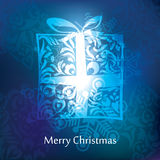 Vector christmas postcard design Royalty Free Stock Image