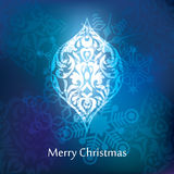 Vector christmas postcard design Royalty Free Stock Images