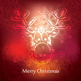 Vector christmas postcard design Stock Images
