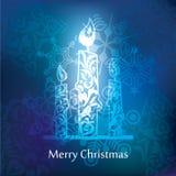 Vector christmas postcard design Stock Photography