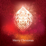Vector christmas postcard design Royalty Free Stock Photography