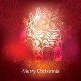Vector christmas postcard design Stock Photos