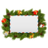 Vector Christmas Postcard Stock Photo