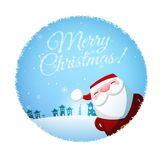Vector Christmas postcard Royalty Free Stock Images