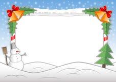 Vector Christmas Potoframe. Vector Christmas frame for decoration photo Stock Photography