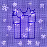 Vector Christmas Present. Vector Christmas Background with Present Royalty Free Stock Photo