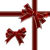 Vector. Christmas Red Ribbon With Bow Stock Photo