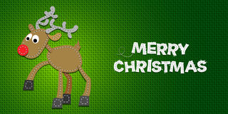 Vector Christmas Reindeer. Vector Christmas Background with Reindeer on a Canvas Royalty Free Stock Photos