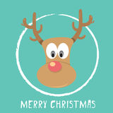 Vector Christmas reindeer Royalty Free Stock Image