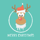 Vector Christmas reindeer Royalty Free Stock Photography