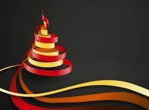 Vector Christmas Ribbon Royalty Free Stock Images