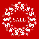 Vector Christmas Sale Background Stock Photo