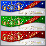 Vector Christmas Sale Banners Stock Image