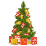 Vector Christmas Sale Concept Royalty Free Stock Image