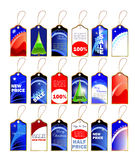 Vector christmas sale labels tags Royalty Free Stock Photo