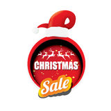 Vector Christmas sales tag or label Stock Images