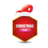 Vector Christmas sales tag or label Royalty Free Stock Photos