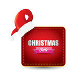 Vector Christmas sales tag or label Royalty Free Stock Photography