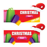 Vector Christmas sales tag or label Stock Image