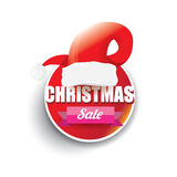 Vector Christmas sales tag or label Stock Photography