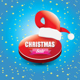 Vector Christmas sales tag or label Royalty Free Stock Image