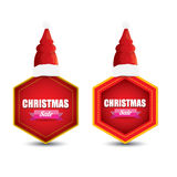 Vector Christmas sales tag or label Royalty Free Stock Images