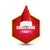 Vector Christmas sales tag or label Stock Photos