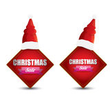 Vector Christmas sales tag or label Royalty Free Stock Photo