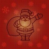 Vector Christmas Santa Claus. Vector Christmas Background with Santa Claus Royalty Free Stock Photography