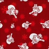 Vector Christmas Santas. Vector Christmas Background with Santas Royalty Free Stock Image