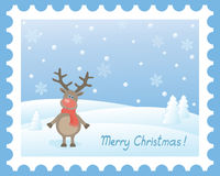 Vector christmas  scene Stock Photos