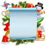 Vector Christmas Scroll Royalty Free Stock Photo