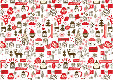 Vector -Christmas seamless pattern Royalty Free Stock Photo