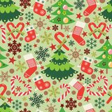 Christmas vector seamless pattern background royalty free illustration