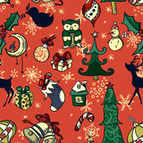 Vector christmas seamless pattern Stock Photography