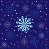 Vector Christmas seamless pattern snowflake. Royalty Free Stock Photo