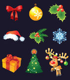 Vector Christmas set Royalty Free Stock Photo