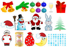 Vector Christmas set Stock Images
