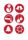Vector christmas set of icons Royalty Free Stock Image