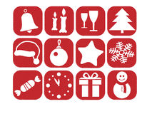 Vector christmas set of icons Stock Photography