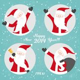 Vector Christmas set with Santa Royalty Free Stock Photo