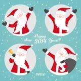 Vector Christmas set with Santa Royalty Free Stock Photo