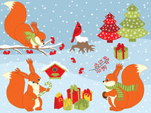 Vector Christmas Set Royalty Free Stock Photography