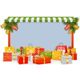 Vector Christmas Shopping Board Royalty Free Stock Image
